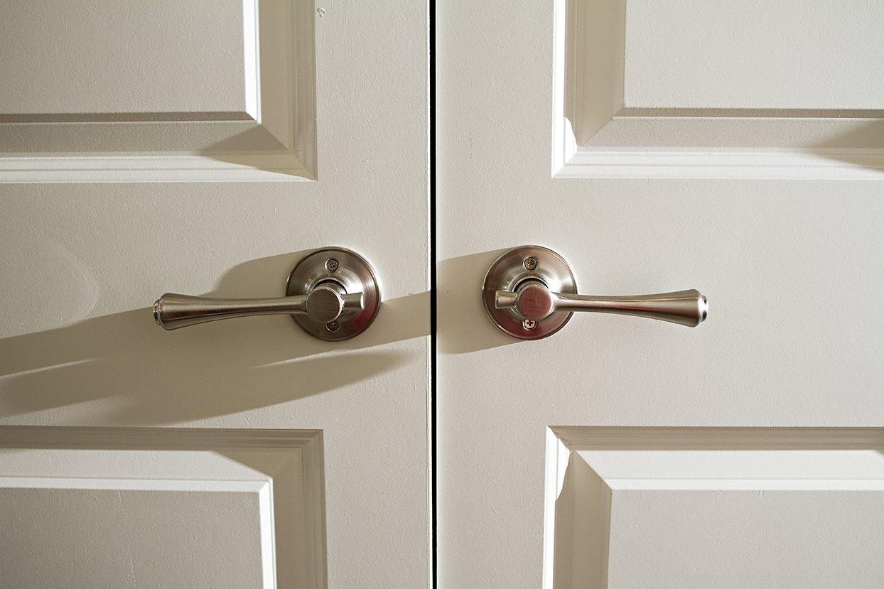 Design House 702423 Ironwood 2-Way Adjustable Passage Door Handle Brushed Bronze
