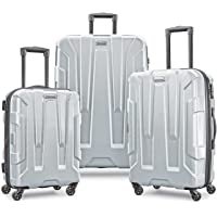 Samsonite 3-Piece Centric Expandable Hardside Luggage Set with Spinner Wheels (Silver)