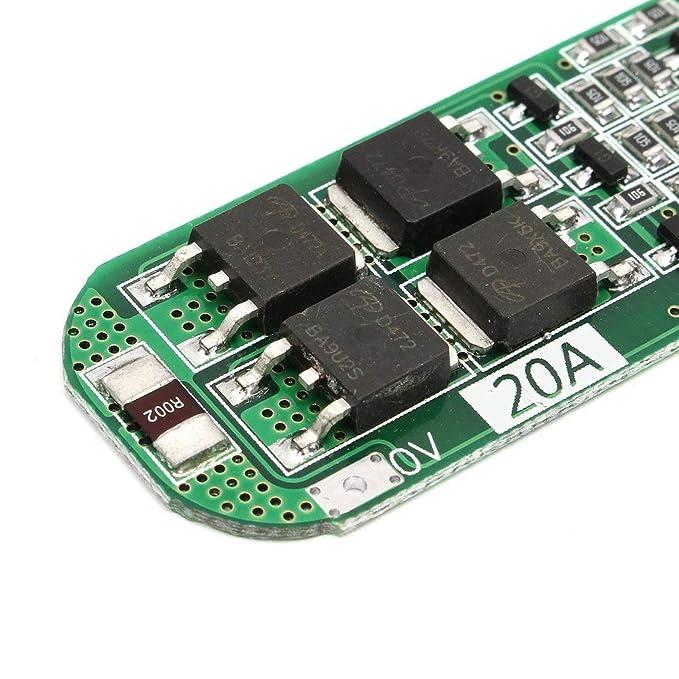 3S 20A Batería de Litio Profesional de Ion de Litio 18650 Cargador PCB BMS Placa de protección para Motor de perforación 12.6V Lipo Cell Module - ...