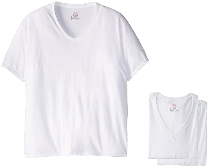 fa54578dd3c Amazon.com  Hanes Ultimate Men s Hanes Classics 5 Pack White V-Neck T Shirt  (2XL)