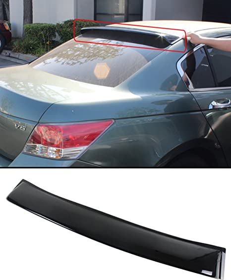 2009 2010 2011 Pre-Painted Roof Spoiler Compatible With 2008-2012 Honda Accord 8th Gen #NH700M Alabaster Silver Metallic PU Flexible Rear Roof Spoiler Other Color Available by IKON MOTORSPORTS