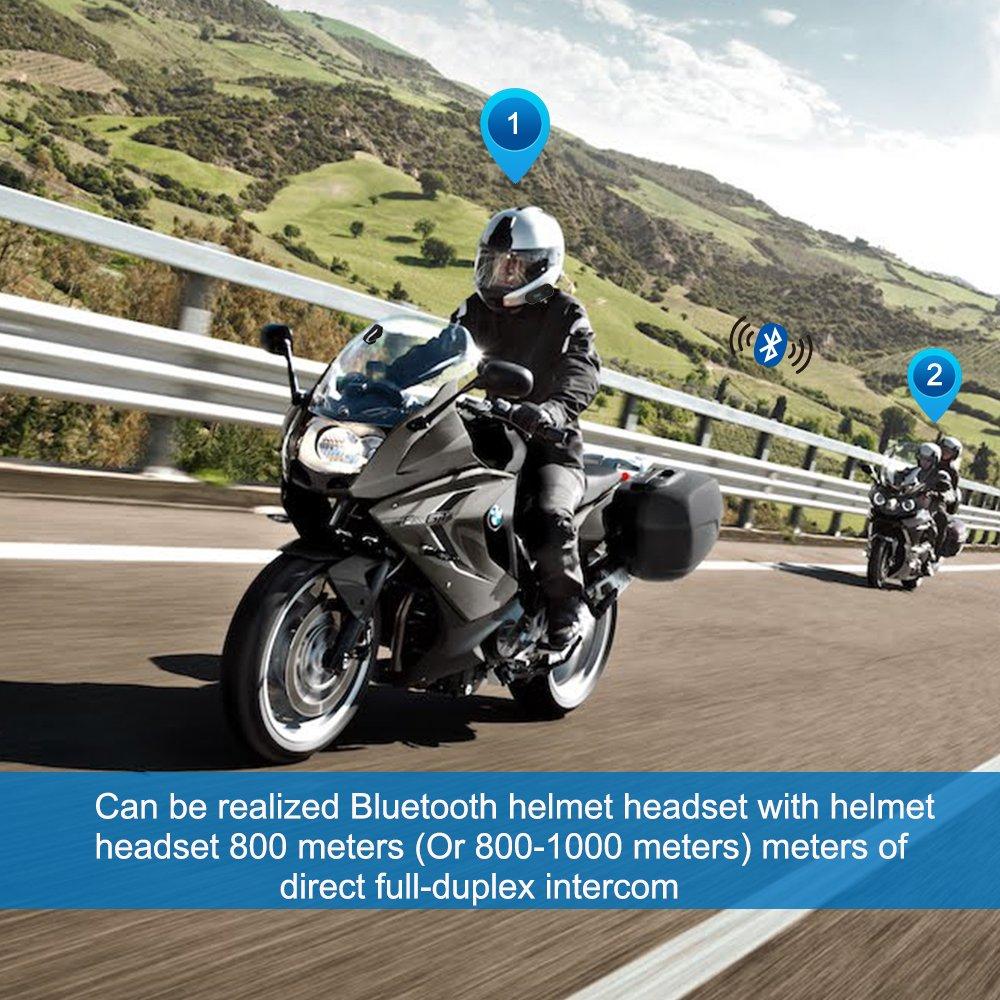 FreedConn TCOM-SC Motorcycle Communication Systems Helmet Bluetooth Headset Intercom with Soft Mic Cord LCD Screen//FM Radio//Handsfree//800M// 2-3Riders