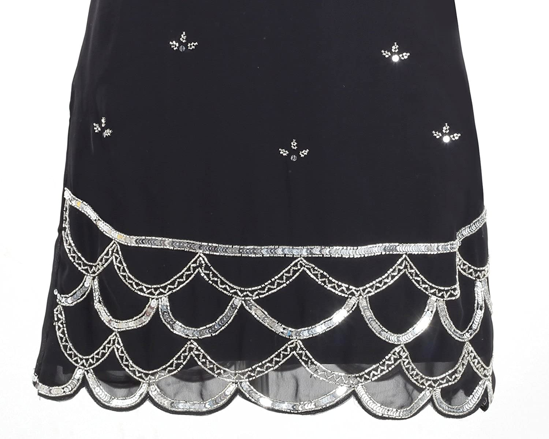 1920's Style Gatsby Tunic Top Evening Embellish Shift Dress Vintage Dress