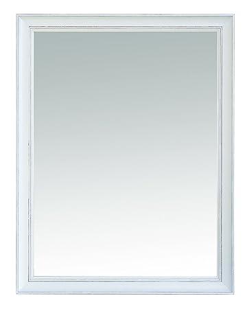 TrendyItalia Shabby Cornice con Specchio, Legno, Bianco ...