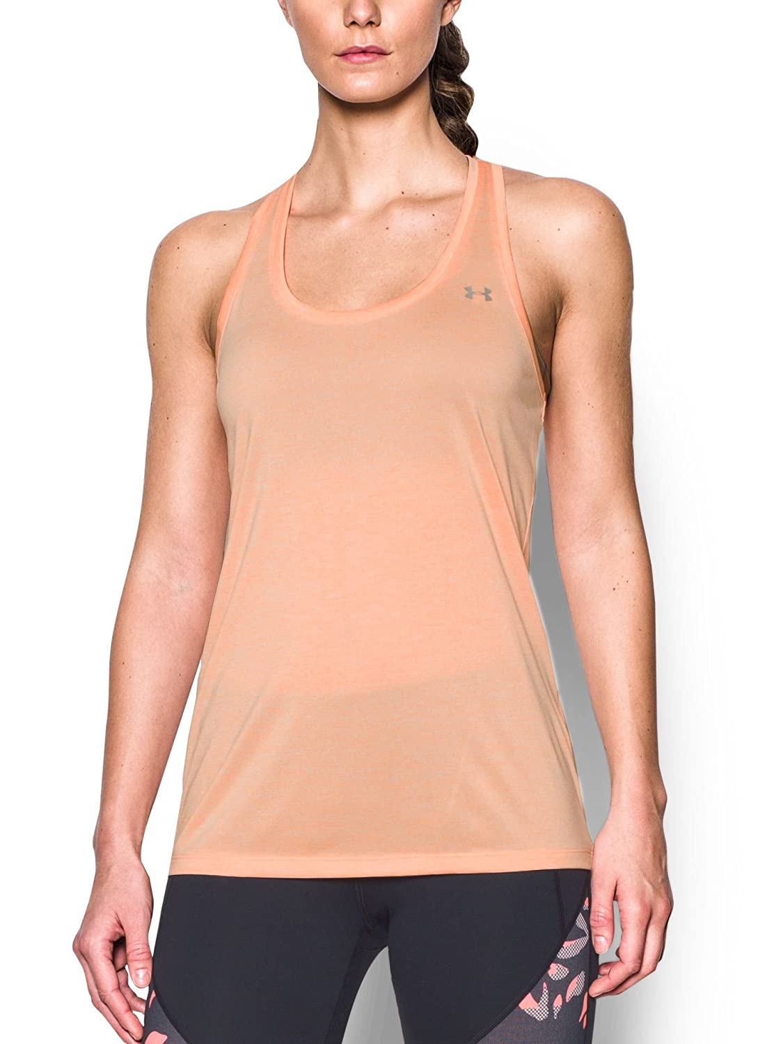 TALLA S-M. Under Armour Tech Tank Twist - Camiseta Deportiva de Tirantes Mujer