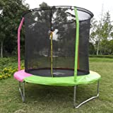 KLB Sport 8-Feet Round Trampoline with Safety Enclosure