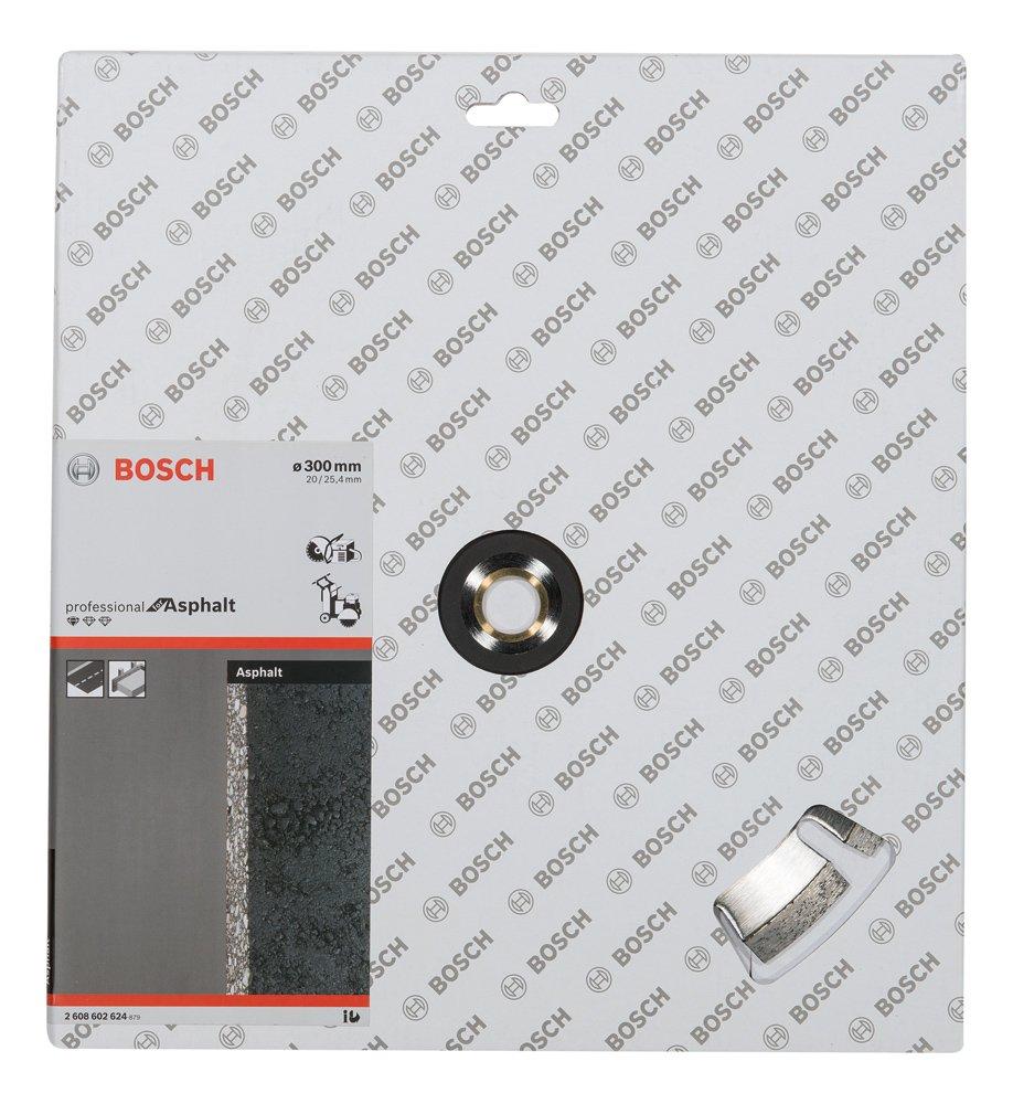 Bosch 2608602624 Disque /à tron/çonner diamant/é standard for asphalt 300 x 20//25,40 x 2,8 x 10 mm