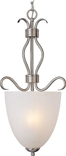 Maxim 10130ICSN Basix Ice Glass Bowl Pendant Ceiling Light