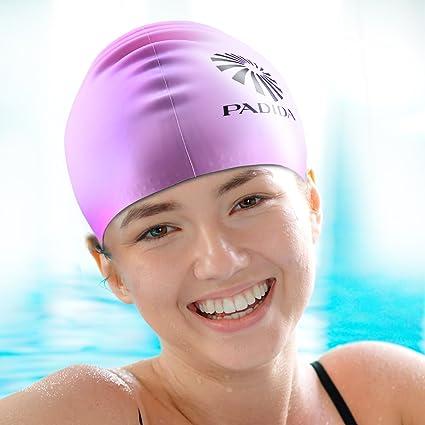 Amazon.com   WELKOOM Swim Cap for Women 6147ef7633