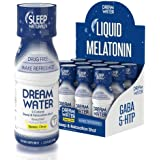 Dream Water Natural Sleep Aid, GABA, MELATONIN, 5-HTP, 2.5oz Shot, Sleepy Citrus, 12 Count