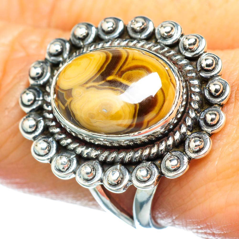 Bohemian Vintage RING934557 Ana Silver Co Schalenblende Ring Size 8.5 925 Sterling Silver - Handmade Jewelry