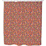 Uneekee Classy Paisley Design Shower Curtain: Large Waterproof Luxurious Bathroom Design Woven Fabric