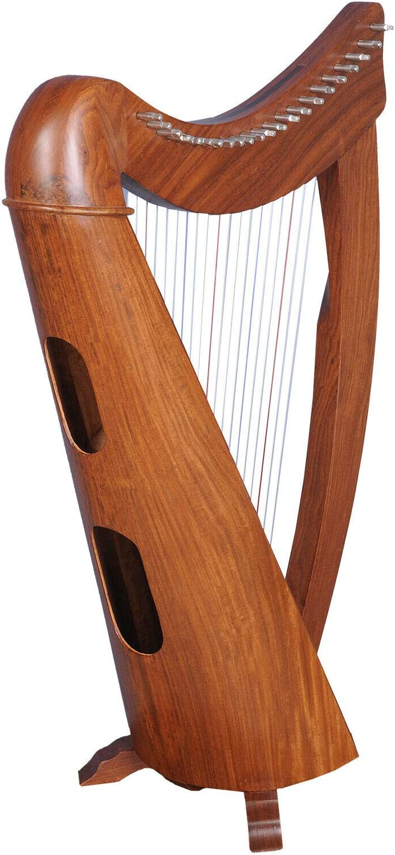 Claddagh Busker Harfe 22 pages en palissandre