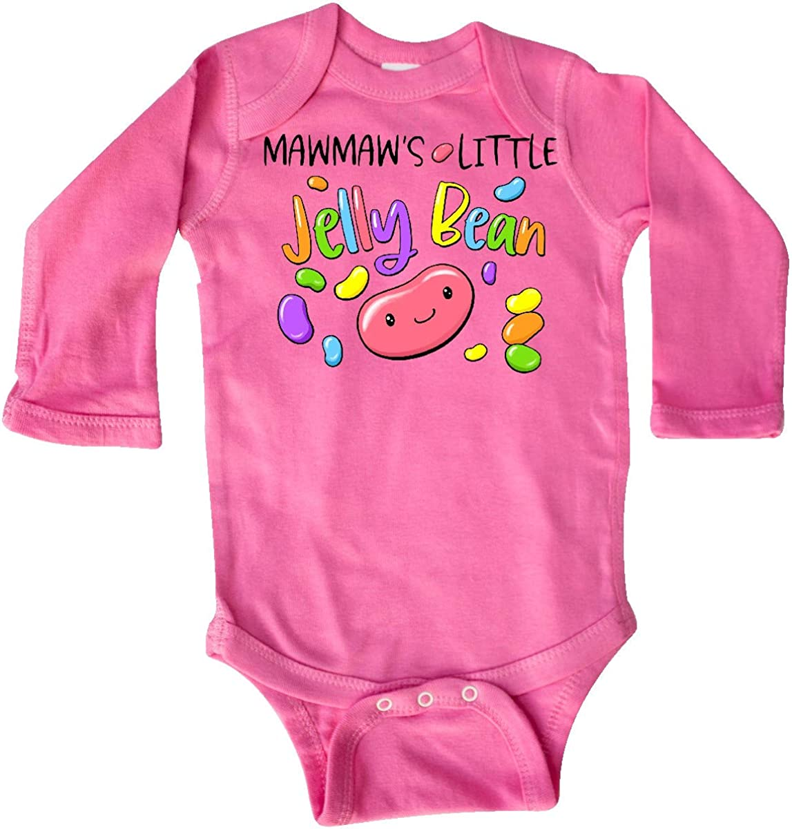inktastic Mawmaws Little Jellybean Cute Easter Candy Long Sleeve Creeper