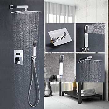 complete shower faucet kits. Votamuta Bathroom Single Handle Shower Faucet Trim Valve Body Hand  Complete Kit Modern Square