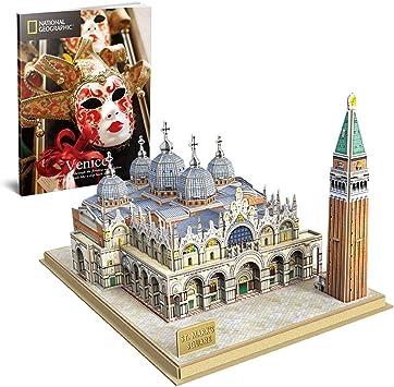 CubicFun Puzzle 3D Plaza de San Marcos, con National Geographic Folleto de Fotografía, 107 Piezas: Amazon.es: Juguetes y juegos