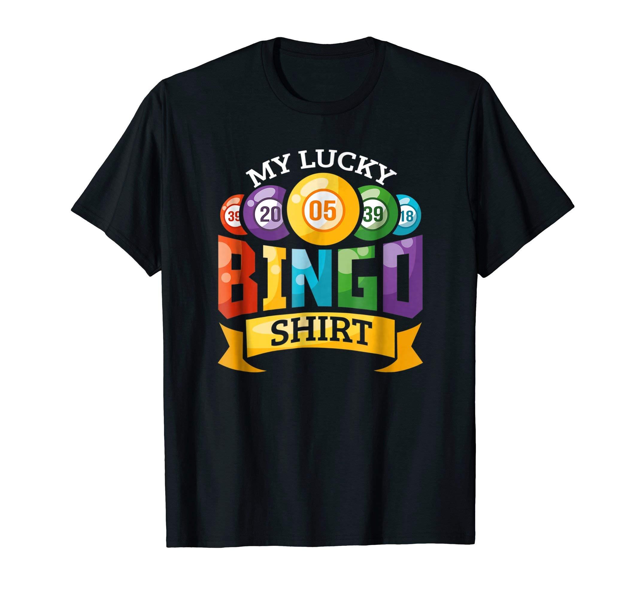 My Lucky Bingo T-Shirt Funny Bingo Player