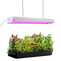 Byingo Plant Grow Light - LED Integrated Lamp Fixture Plug and Play - Full Spectrum for Indoor Plants Flowers Growing