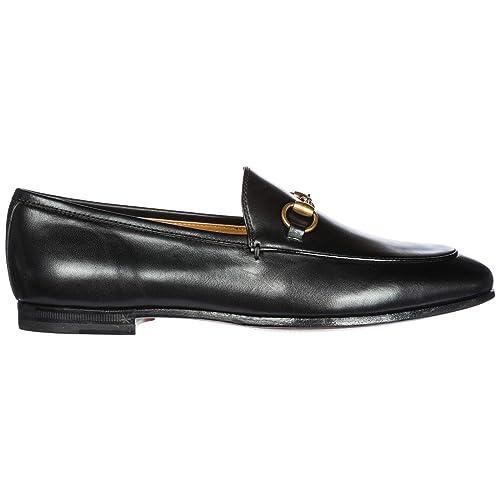 Gucci 404069 BLM00 1000 - Bailarinas de Cuero para Mujer Negro Negro Negro  Size  36 EU  Amazon.es  Zapatos y complementos 562246e9a11