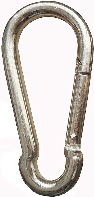 Stahl verzinkt Silber Feuerwehrkarabiner Karabiner DIN 5299 Karabinerhaken 6 x 60mm 10 St/ück