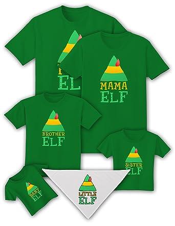 151144b74943 TooLoud Matching Christmas Design - Elf Family - Brother Elf Adult Dark T- Shirt -