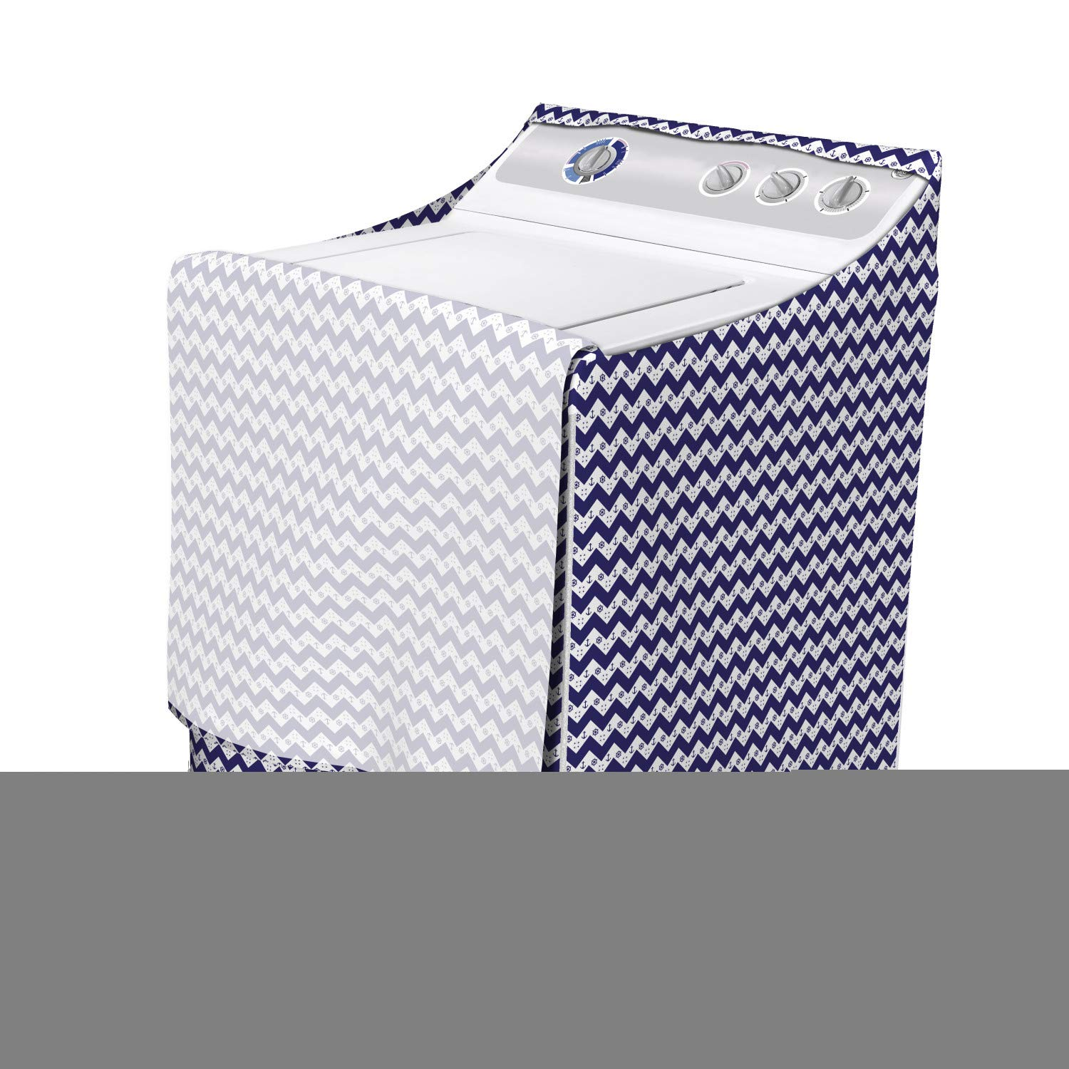 Contemporary Triangles and Rhombuses Pattern Monochrome Modern Art White Black 29 x 28 x 40 Easy to Use Bathroom Accent Fabric Lunarable Black and White Washer Cover