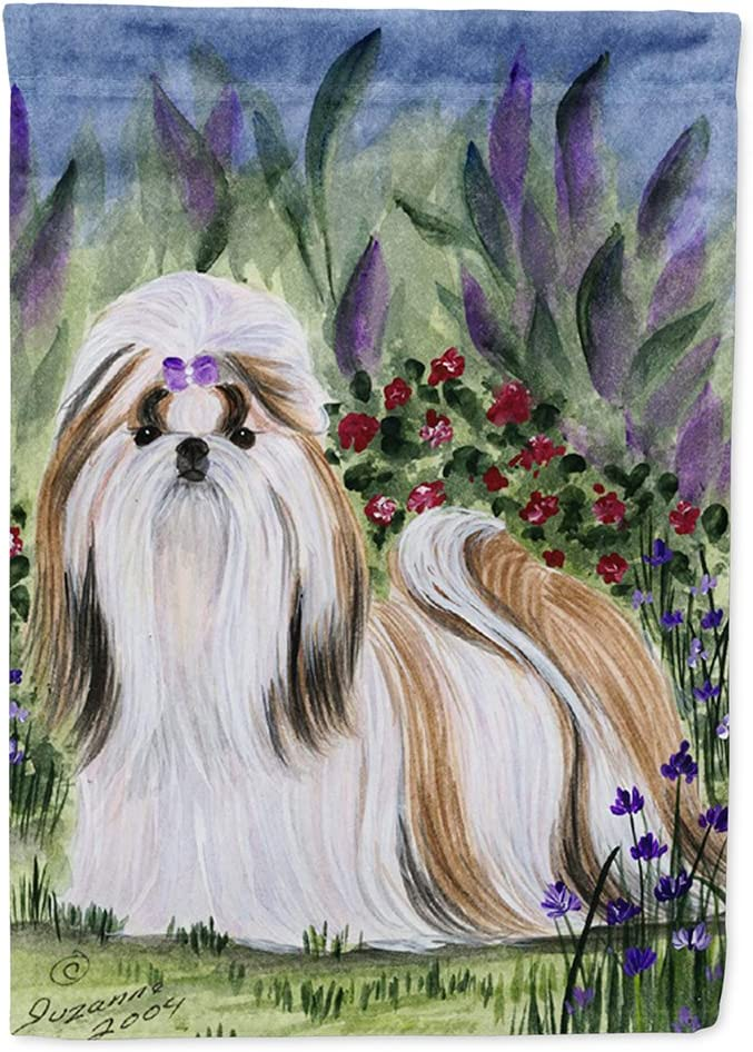 Caroline's Treasures SS8034GF Shih Tzu Flag Garden Size, Small, Multicolor