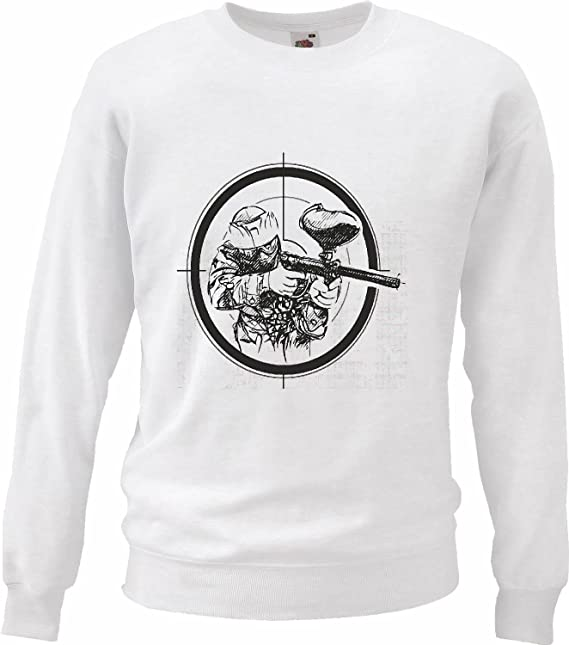Sudaderas Suéter Tienda Paintball Paintball Club del Color del Equipo Bolas Paintball Pistola de Paintball Marcador de Paintball en Blanco: Amazon.es: Ropa ...