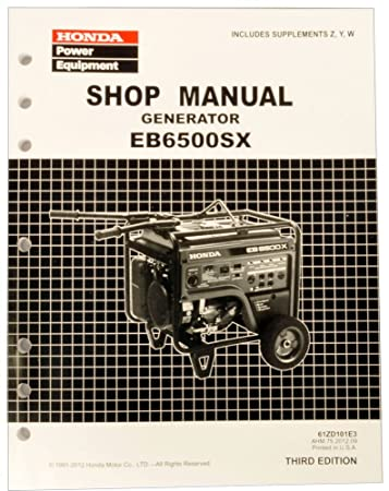 amazon com honda eb6500 generator service repair shop manual rh amazon com honda eb6500x service manual honda eb6500 owners manual