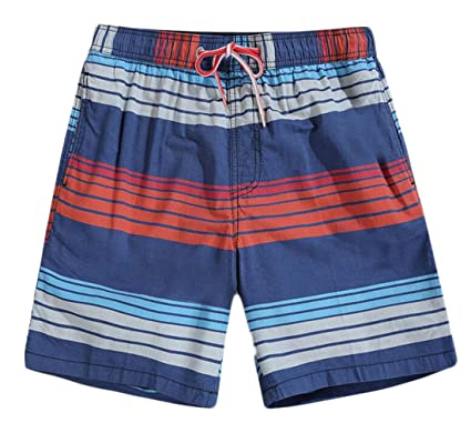 a54225ce6166b JuJuTa Men's Flat Front Classic Print Swim Trunks Surfing Board Shorts    Amazon.com