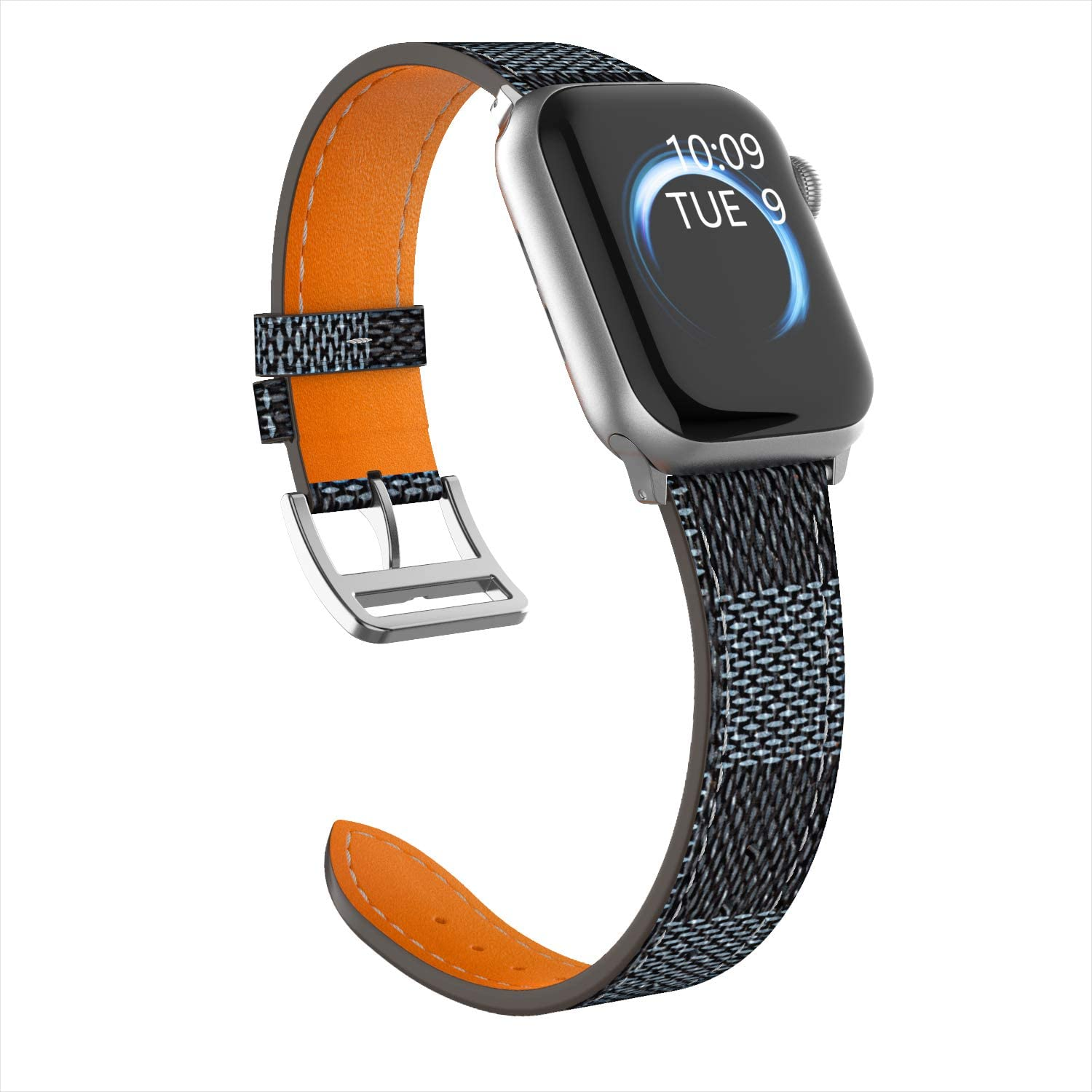 iGK Compatible with Apple Watch Band 38mm 40mm 42mm 44mm, Adjustable Genuine Leather Replacement Wristbands Compatible for iWatch Series 5 4 3 2 1