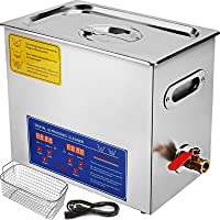 VEVOR 6L Ultrasonic Cleaner Commercial Ultrasonic Professional Stainless Steel Ultrasonic Parts Cleaner Jewelry Cleaner…