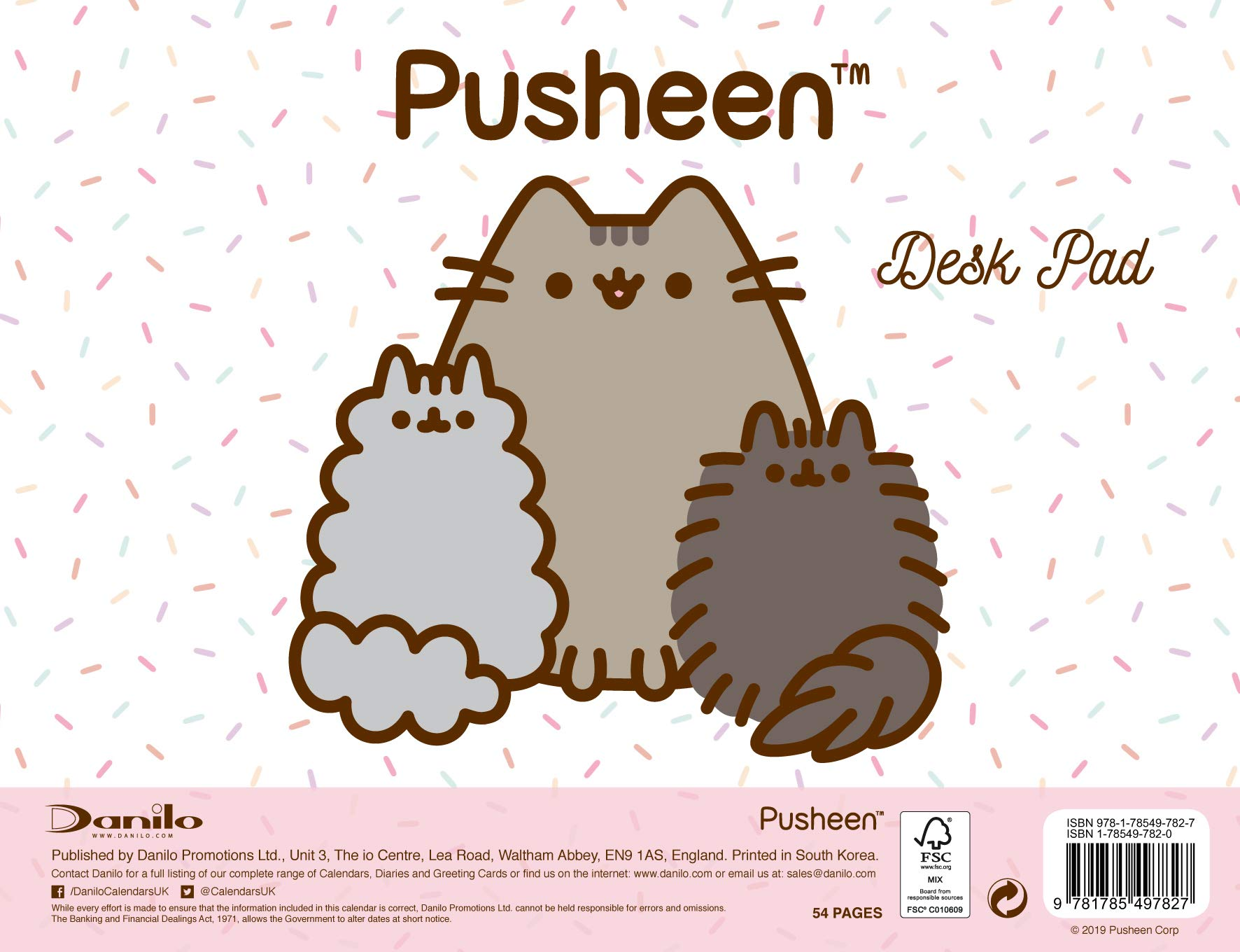 Pusheen Desk Pad Official 2019 Calendar Desk Pad Format