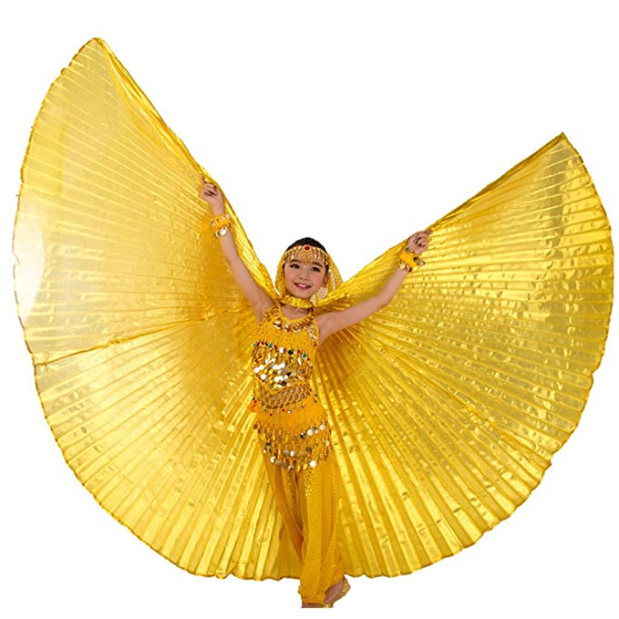 046e79202 Amazon.com  WILLLIN Children Belly Dance isis Wings Belly Dance ...