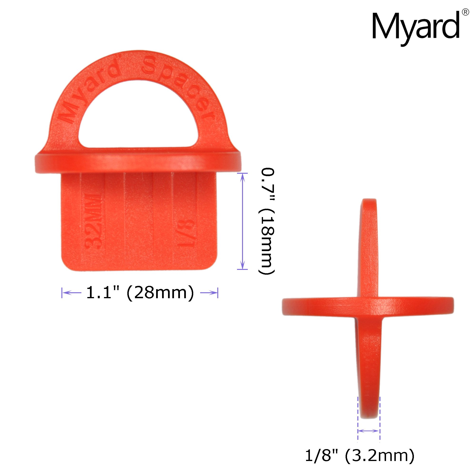 "Myard 1//4/"" Inch Green, 20 Pack Deck Board Jig Spacer Rings for Pressure Treate"