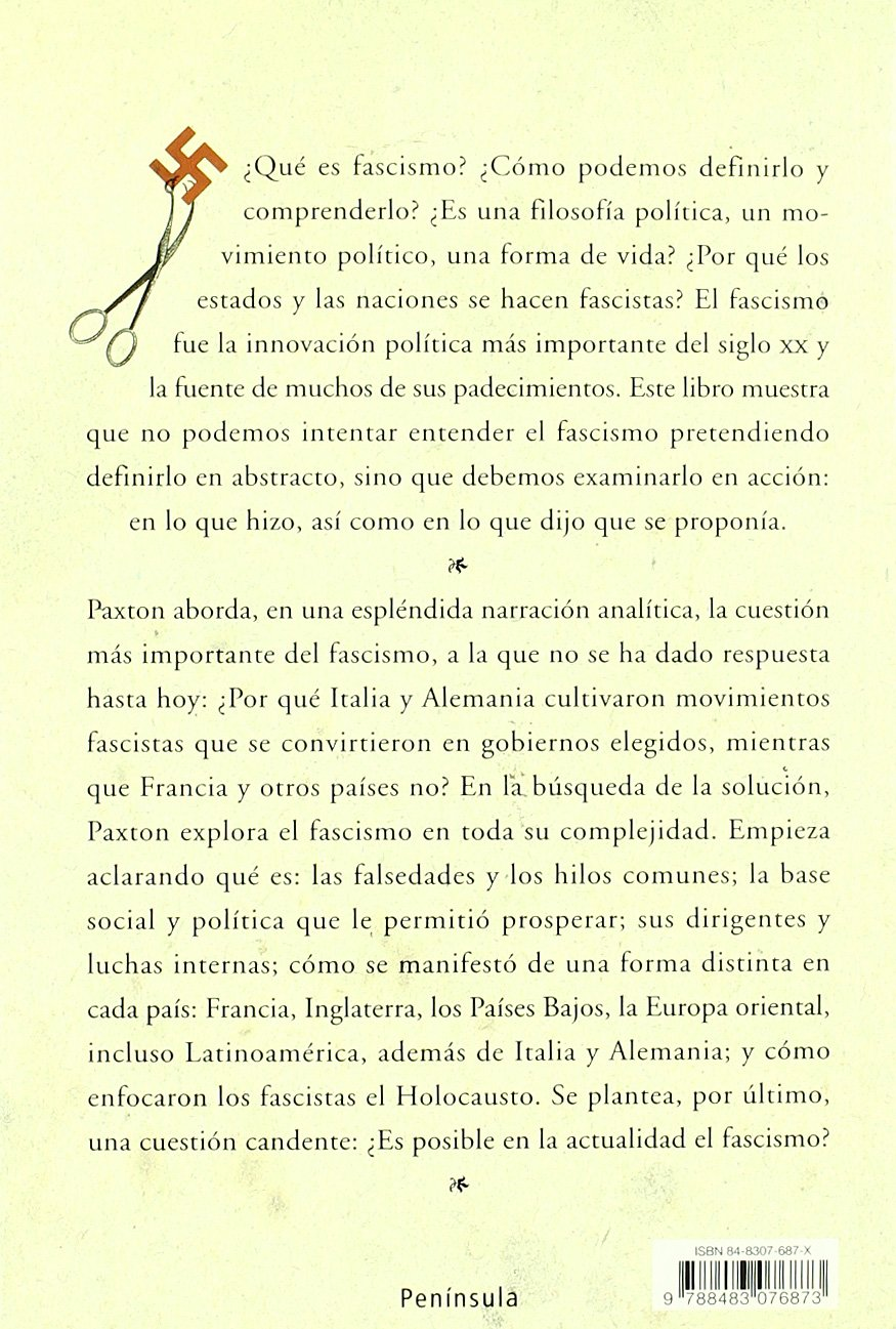 Anatomía del fascismo (ATALAYA): Amazon.es: Robert O. Paxton, José ...