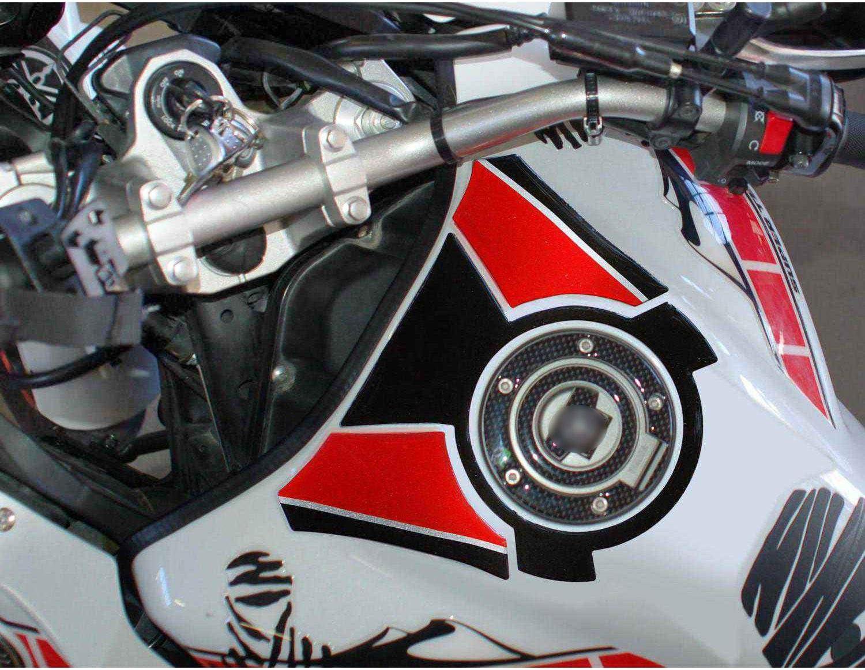 Adesivo 3d Per Zona Tappo Serbatoio 04 Compatibile Con Yamaha Super Tenere