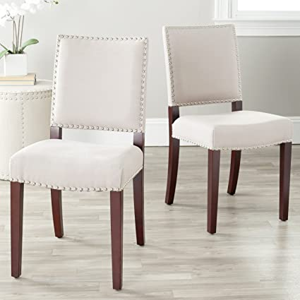 Amazon Com Safavieh Mercer Collection Colette Linen Side Chairs