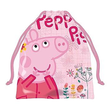 ARDITEX PP12883 Bolsa Merienda 26.5X21.5cm de EONE-Peppa Pig