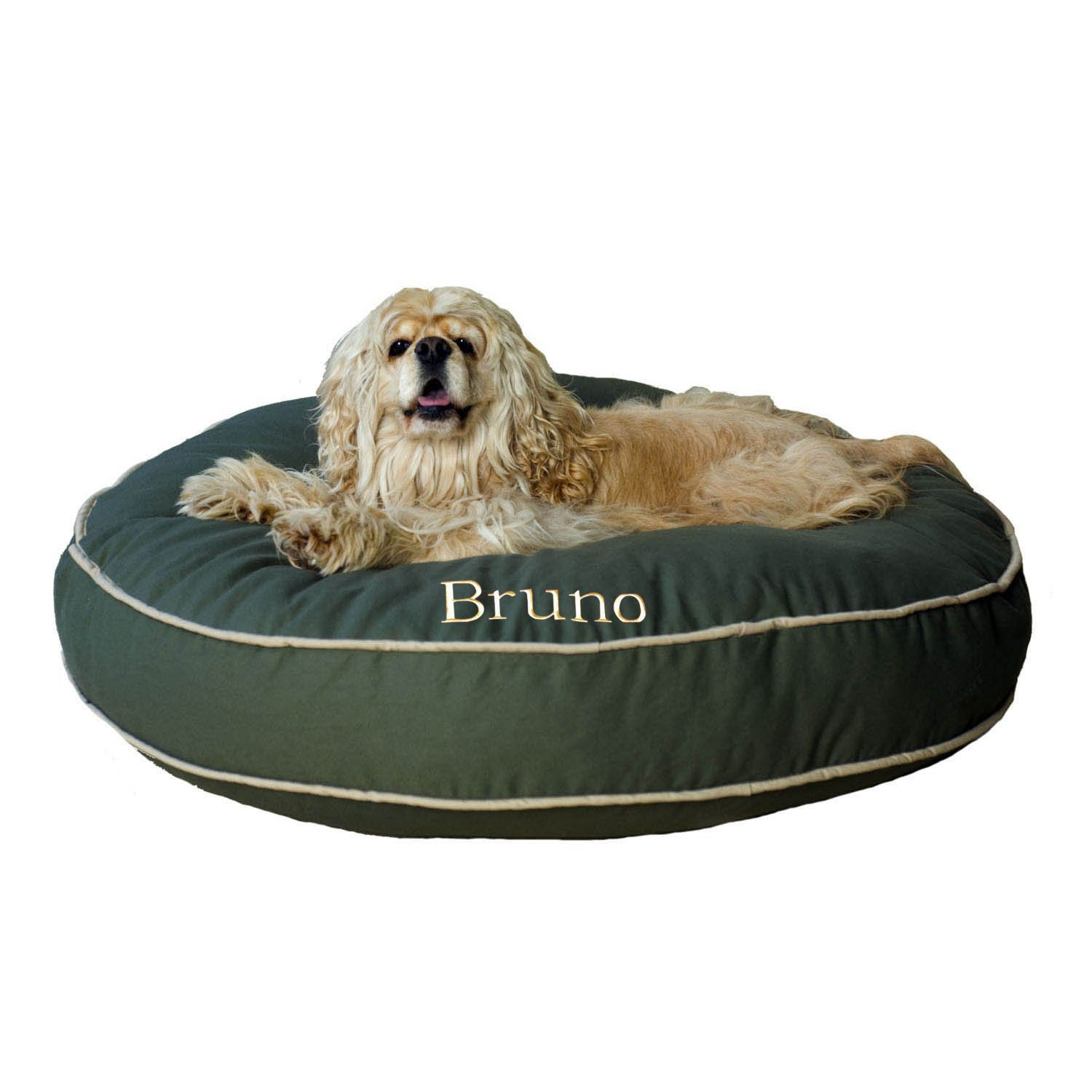 CPC Classic Cotton Twill Round-A-Bout Bed for Pets, 42-Inch, Sage