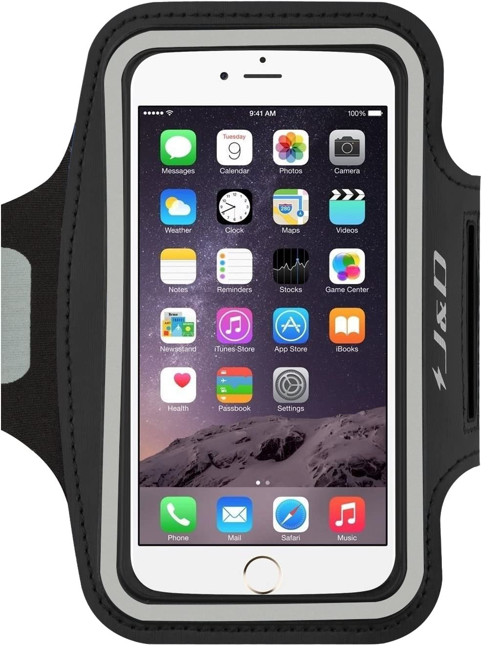 J&D Armband Compatible for iPhone 12 Pro Max/11 Pro Max/iPhone Xs Max/8 Plus/7 Plus/6S Plus/6 Plus Armband, Sports Running Armband with Key Holder Slot, Perfect Earphone Connection