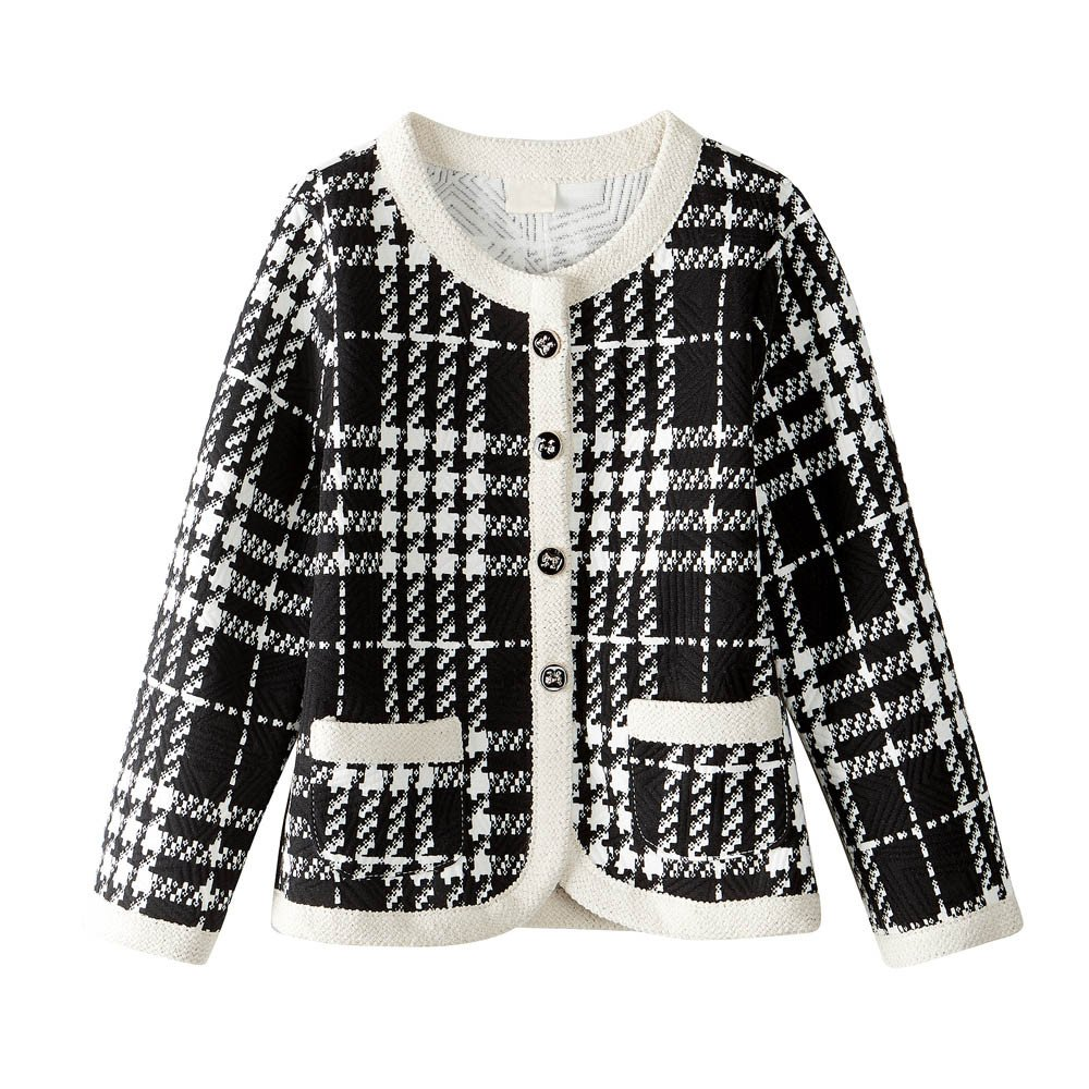 Lifestyler Fashion Single Breasted Girls Outfit Outwear Clothes Plaid Cardigan Coat Tops+Shorts Pants Set