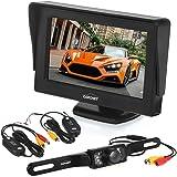 Auto telecamera posteriore auto CARCHET piastra 7LEDS impermeabile IP68con 10,9cm TFT Wireless e trasmettitore ricevitore