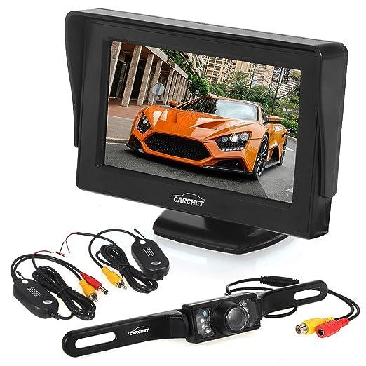 91 opinioni per Auto telecamera posteriore auto CARCHET piastra 7LEDS impermeabile IP68con