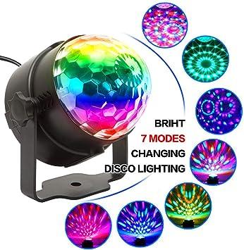 Amazon.com: Proyector de luces de fiesta 7 colores activado ...