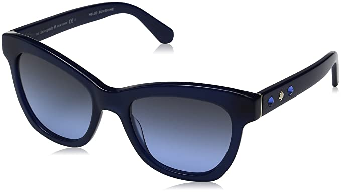 1ae2adbf4f Kate Spade Women s Krissy Wayfarer Sunglasses Gray Blue Silver SP Gradient