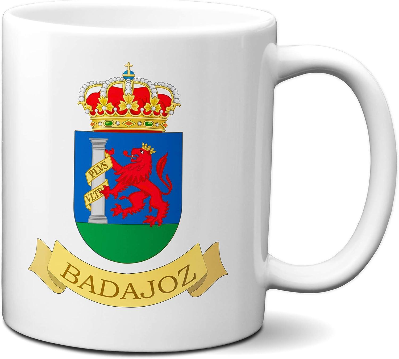 Planetacase Taza Badajoz Escudo Ciudad Extremadura España Ceramica ...