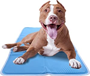 CHILLZ Cooling Pad for Dogs – Dog Cooling Mat for Dogs Blue Pet Cooling Mat