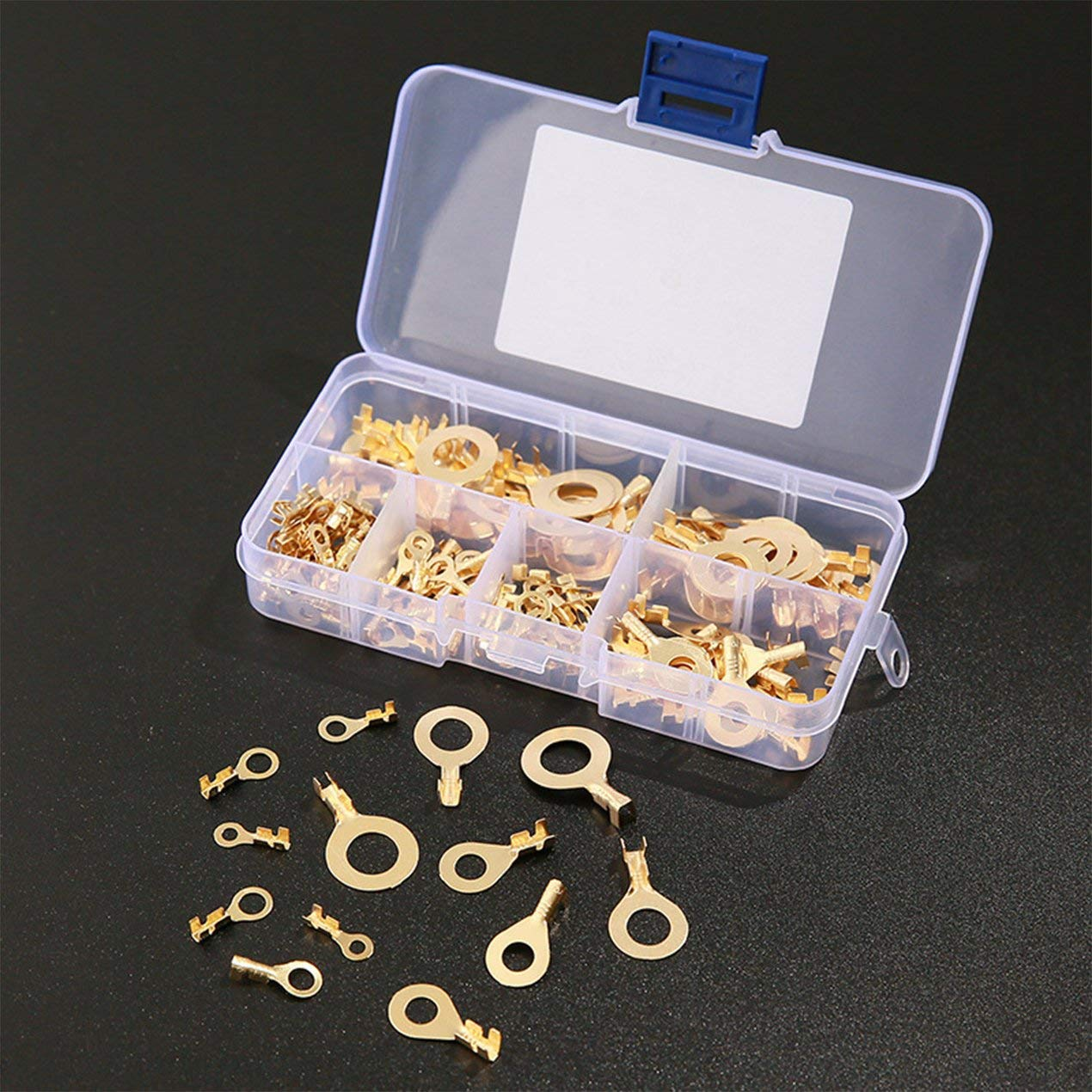 150PCS Cosses rondes Anneau Cosses de c/âble Cosses /à sertir en cuivre Connecteur de c/âble Fil Anneau Bornes Connecteurs Kit M3 M4 M5 M6 M8 M10-Gold BCVBFGCXVB
