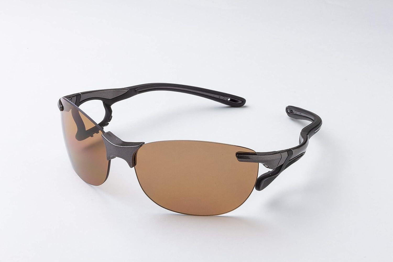 ジゴスペック(Zygospec) Airsight Drive(エアサイト ドライブ) 鼻当てのないノーズパッドレスサングラス 偏光 日本製レンズ 紫外線カット グレー AS-001 GY-D グレー